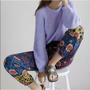 Anthropologie Saturday Sunday Medium Womens Floral Multicolor Sweatpants